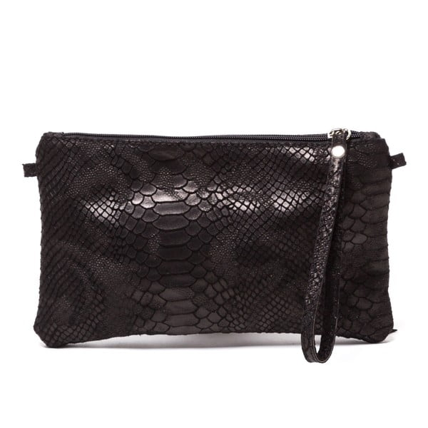 Kožená kabelka Carlita, černá