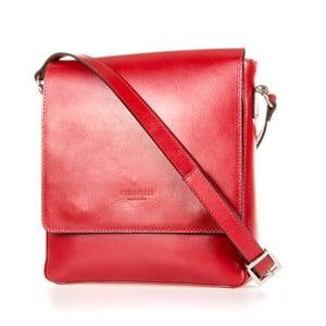 Červená kožená taška přes rameno Italia in Progress Trinita