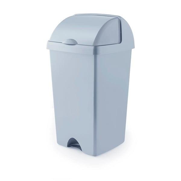 Sivý odpadkový kôš z recyklovaného plastu Addis Eco Range, 50 l