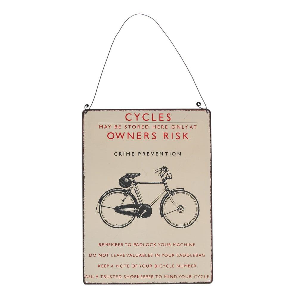 Nástěnná cedule retro jízdní kolo Rex London Bicycle, 17x23cm Rex London