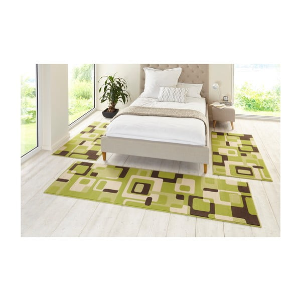 Zelený koberec Hanse Home Hamla Retro, 80x150 cm