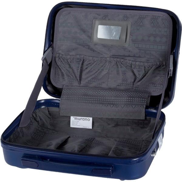 Set modrého kosmetického kufříku a kufru na kolečkách Murano Spider