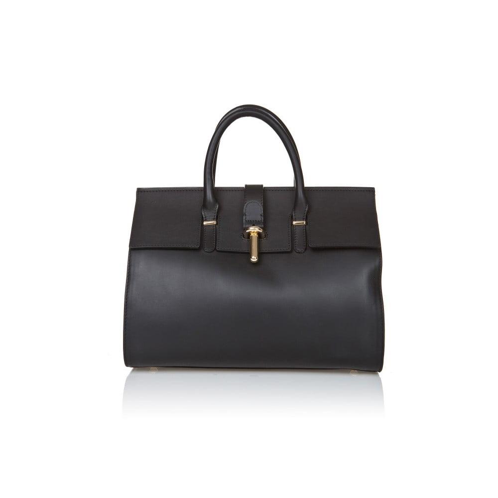 Černá kožená kabelka Markese Sulio