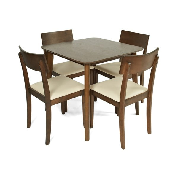 Jídelní sada stolu a 4 židlí Crosby