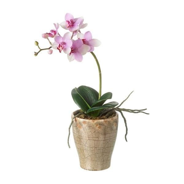 Umělá květina Orchid v květináči
