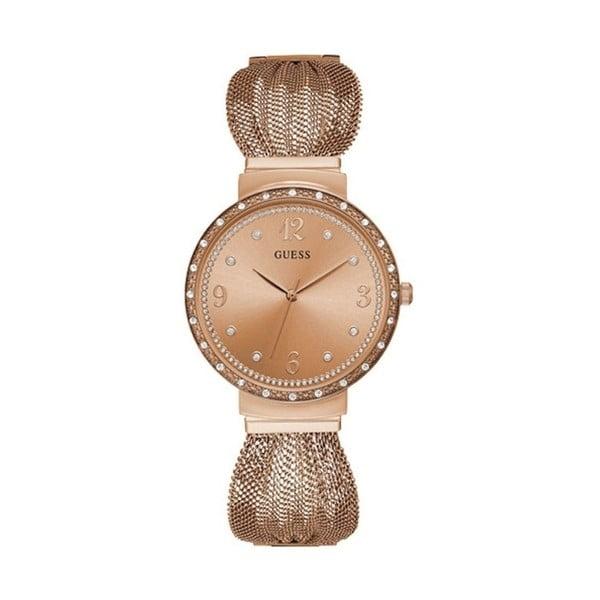 Dámské hodinky v růžovozlaté barvě s páskem z nerezové oceli Guess W1083L3