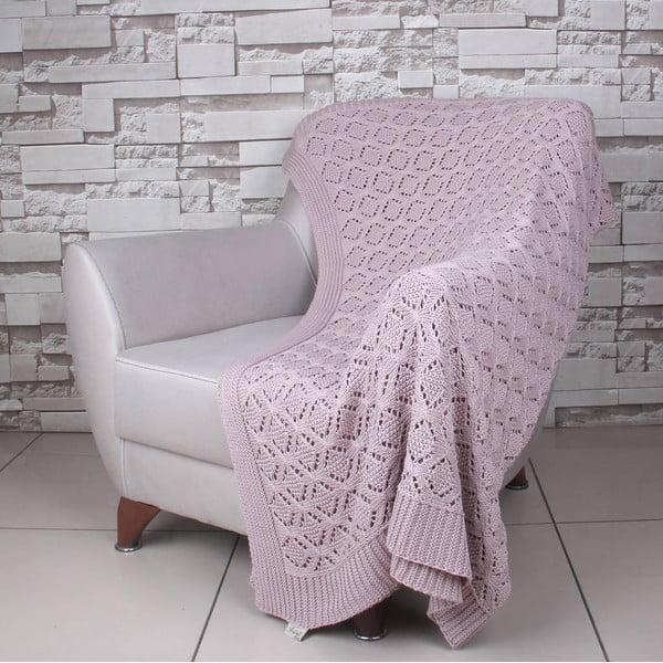 Růžová bavlněná deka Celma