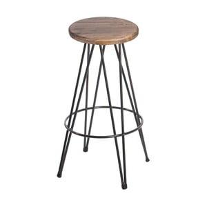 Barová židle se sedákem z ořechového dřeva indhouse Bristol