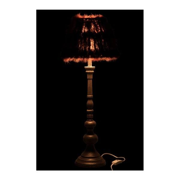 Stojací lampa s pravým pštrosím peřím Auberg
