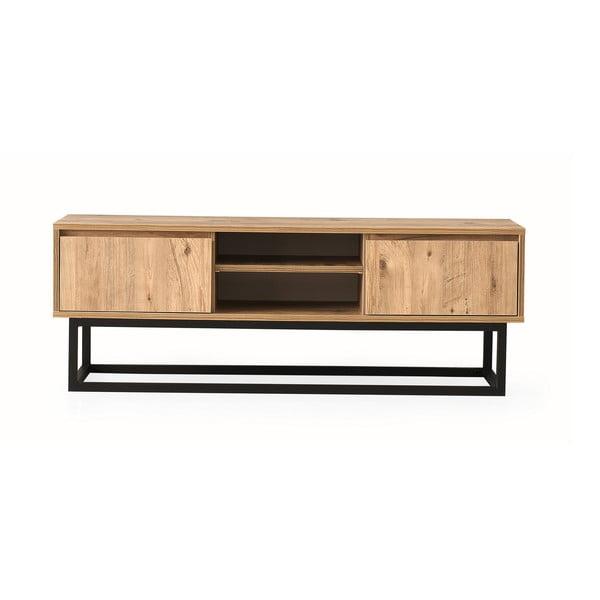 Comodă TV cu aspect de lemn de pin Kalune Design Belinda, lungime 180 cm, natural