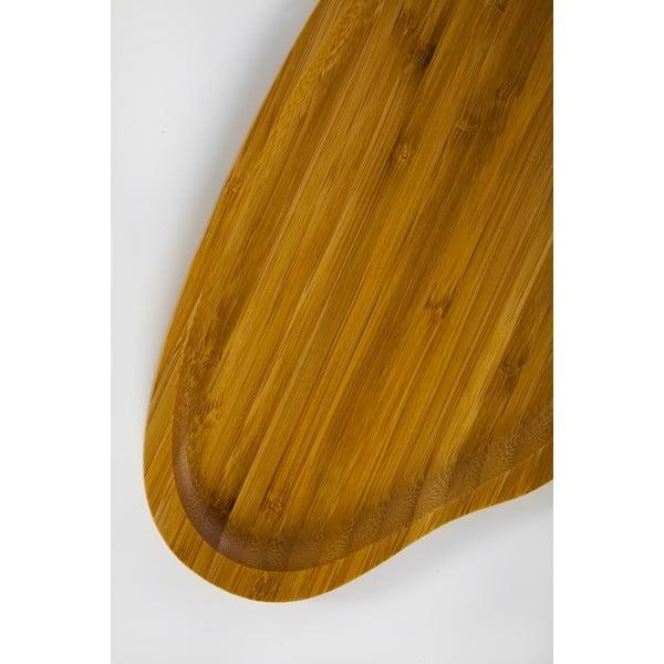 Bambusový servírovací tác Bambum Santos, 26x15 cm