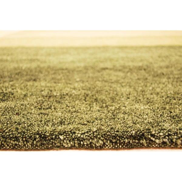 Vlněný koberec Baku Stripe Green, 70x140 cm