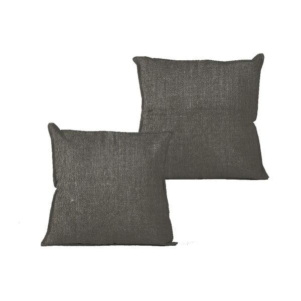 Față de pernă Linen Dark Grey, 45 x 45 cm