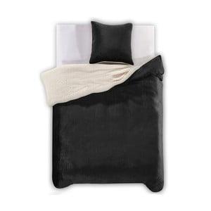 Lenjerie de pat din microfibră DecoKing Teddy, 135 x 200 cm, negru