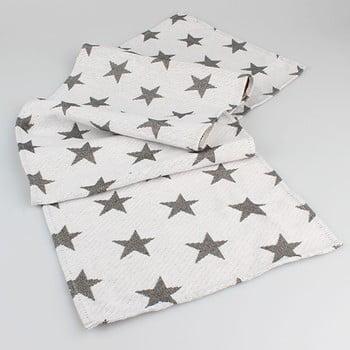 Șervet masă cu steluțe Dakls, alb imagine