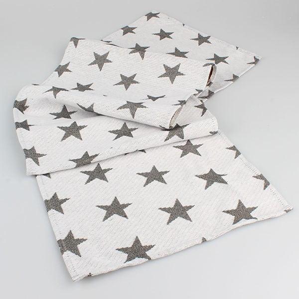 Șervet masă alb cu steluțe Dakls
