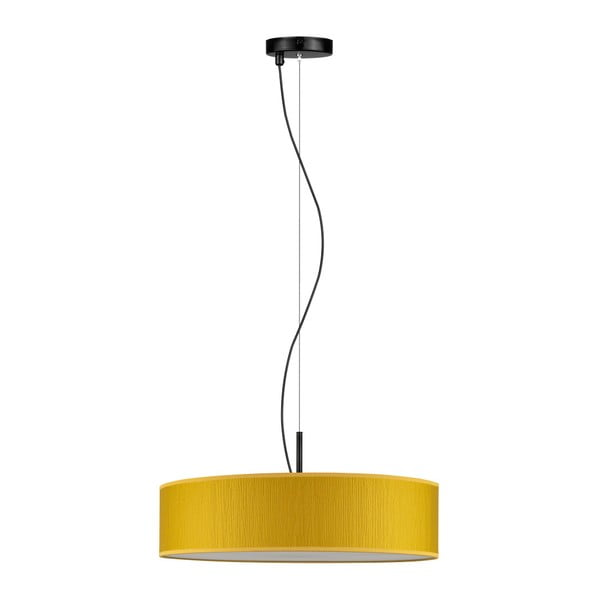 Żółta lampa wisząca Bulb Attack Doce