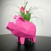 Papírová soška Prasátko, růžové