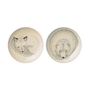 Sada 2 mělkých keramických talířů Bloomingville Adelyn Garda, ⌀20 cm