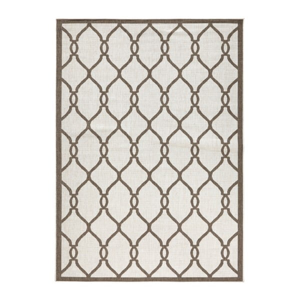 Hnědý vzorovaný oboustranný koberec vhodný i na ven bougari Rimini, 200x 290 cm