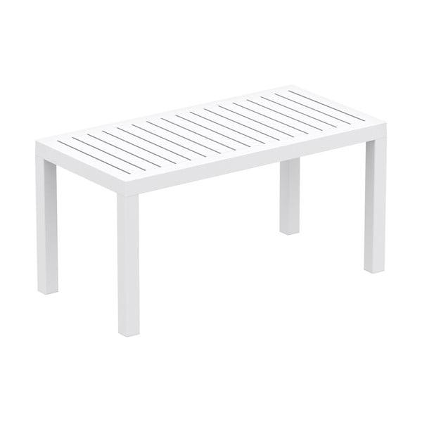 Biely záhradný konferenčný stolík Resol Click-Clack, 90 x 45 cm