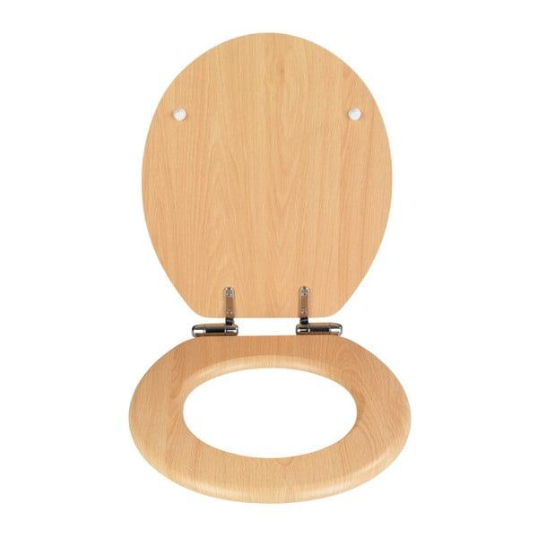 WC sedátko a snadným zavíráním Wenko Beech Nature, 43 x 37 cm