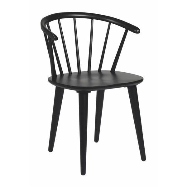 Černá jídelní židle ze dřeva kaučukovníku Rowico Carmen