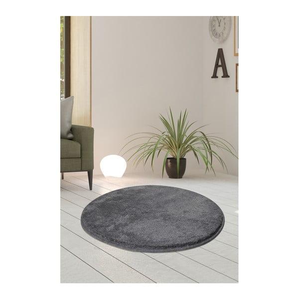 Szary dywan Milano, ⌀ 90 cm