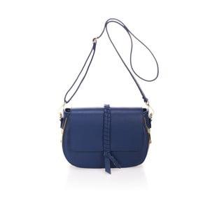 Tmavě modrá kožená kabelka Lisa Minardi Terona