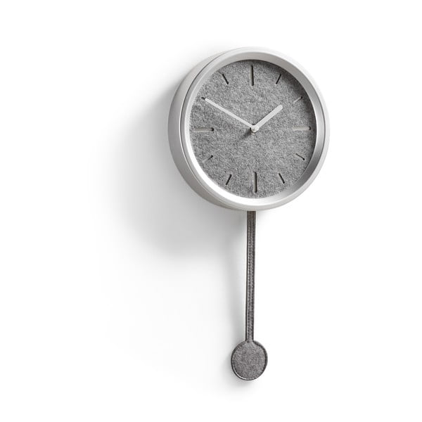 Ceas de perete La Forma Nexo, argintiu