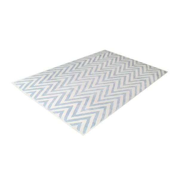 Vlněný koberec Ziggy Ivory Blue, 122x183 cm