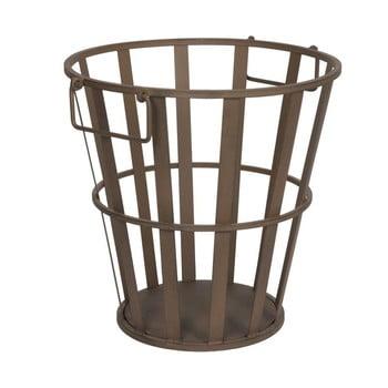 Coș metalic pentru lemne Antic Line, înălțime 41 cm imagine