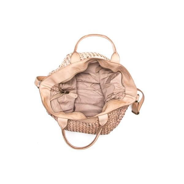Kožená kabelka Anna Luchini 14 Fango