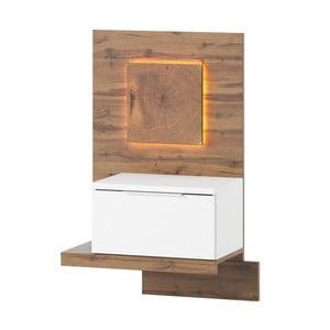 Bílý noční stolek Szynaka Meble Livorno, pravá strana