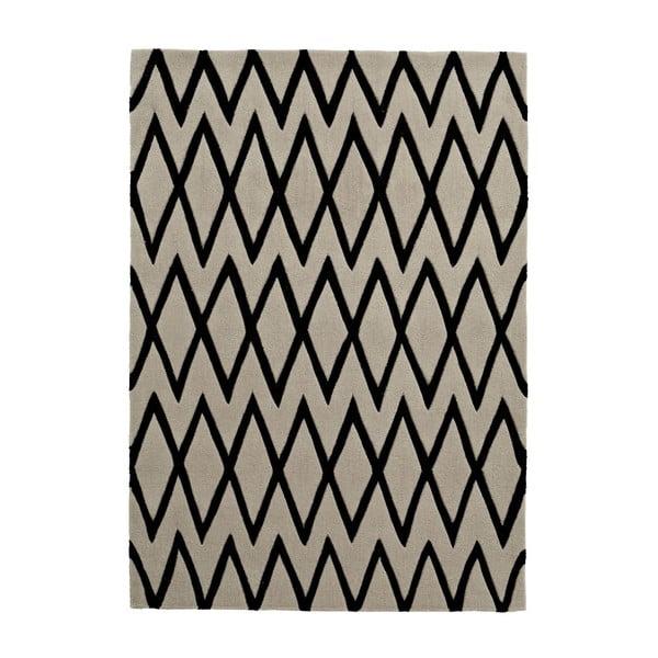 Koberec Flat 150x230 cm, černý