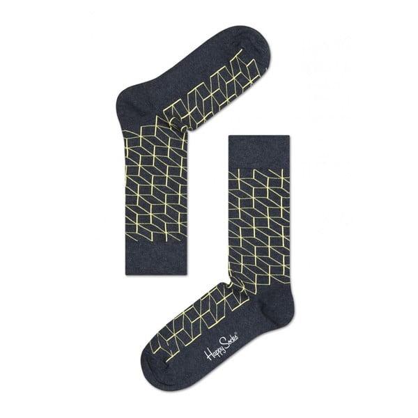 Ponožky Happy Socks Yellow Geometry, vel. 36-40