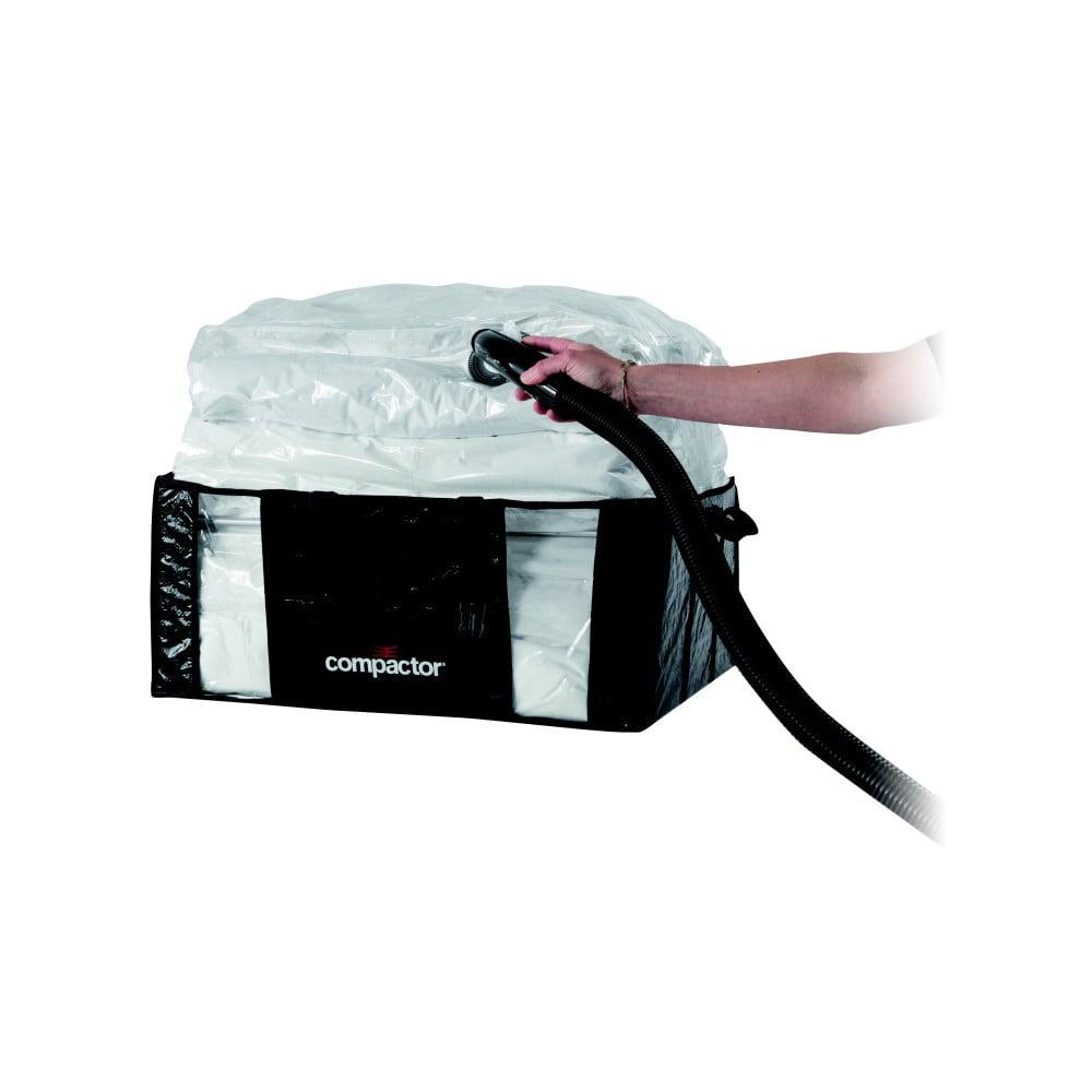 Černý úložný box s vakuových obalem Compactor, 65 x 50 cm