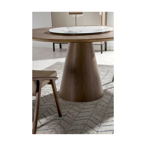 Kulatý jídelní stůl z masivního jasanového dřeva Ángel Cerdá Swivel
