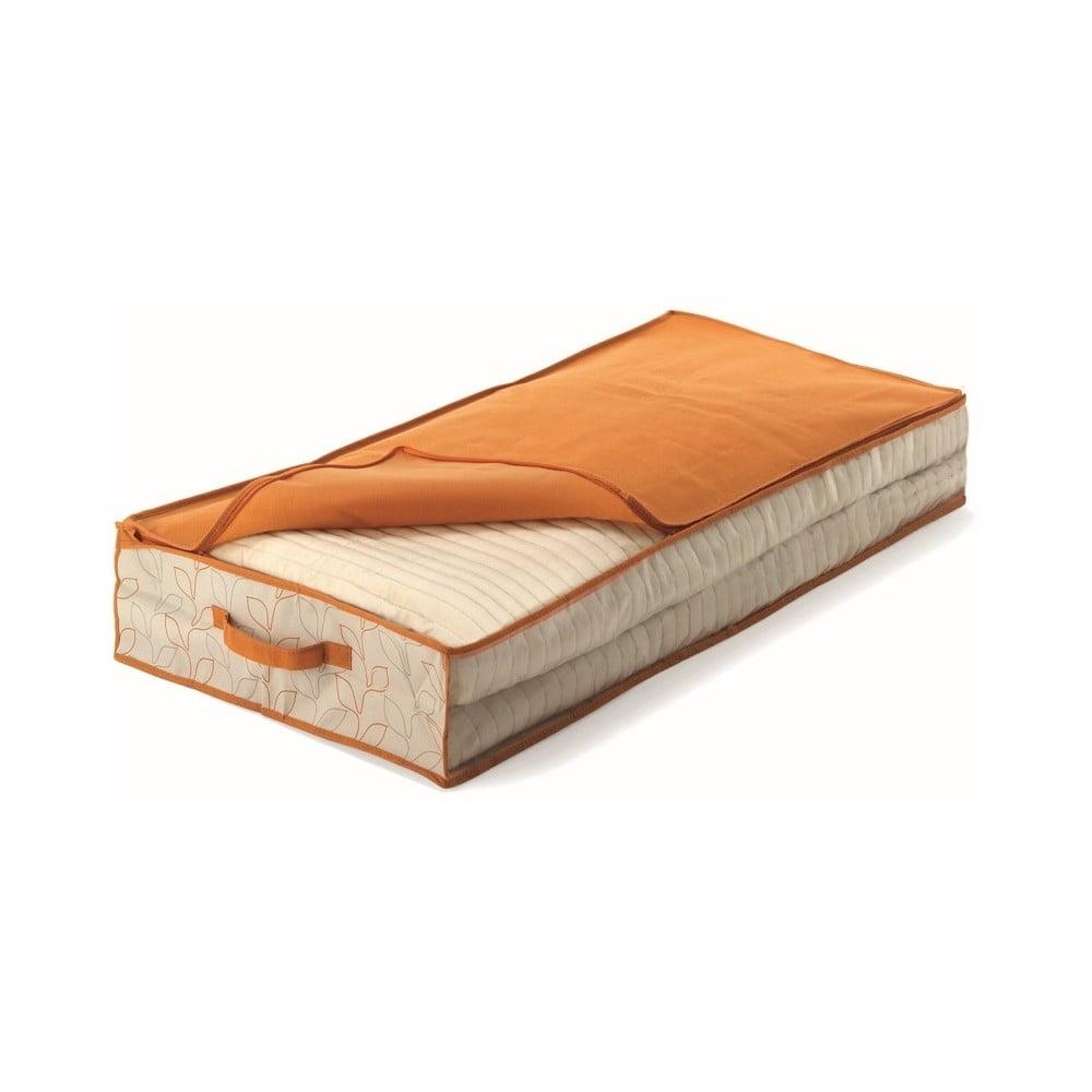 Oranžový úložný box pod postel Cosatto Bloom, šířka 50 cm