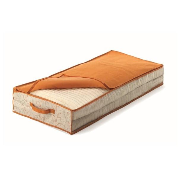 Oranžový úložný box pod postel Cosatto Bloom, šířka50cm
