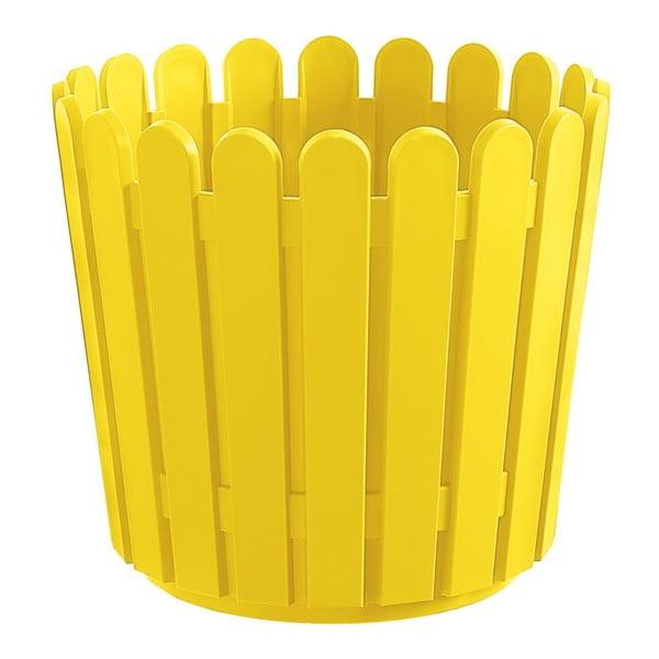 Květináč Round Planter Yellow, 30x27 cm