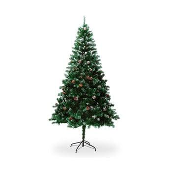 Brad artificial de Crăciun, cu conuri, înălțime 1,8 m imagine