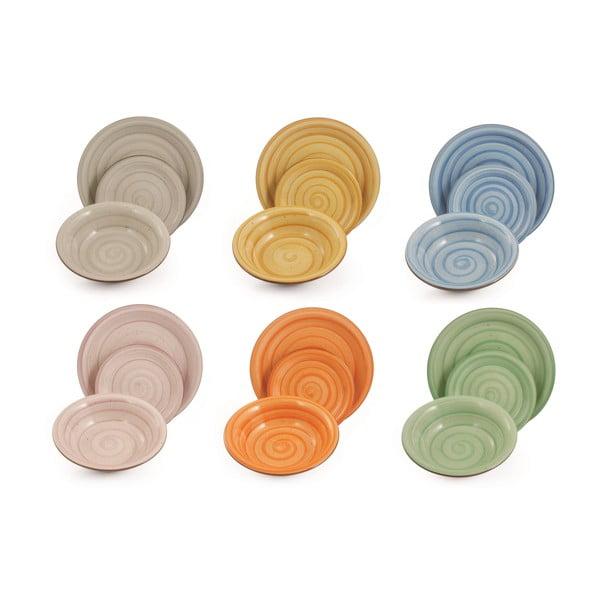 Sada porcelánových talířů River, 18 ks