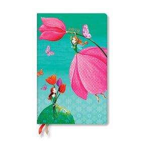 Diář na rok 2019 Paperblanks Joyous Springtime Vertical,13,5 x 21 cm