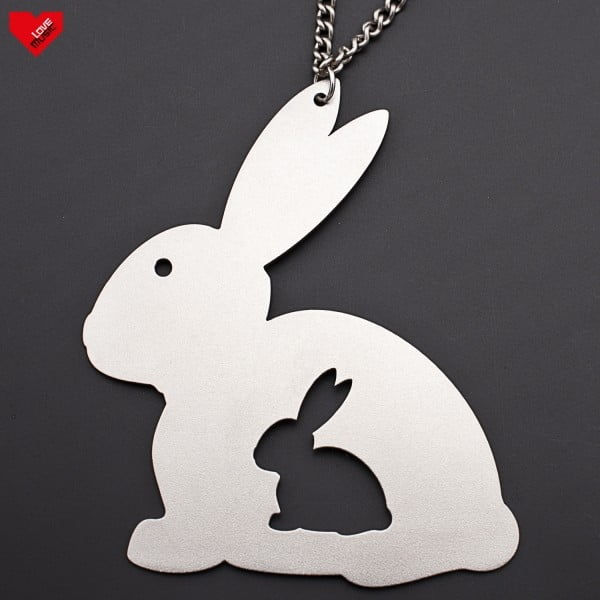 Ocelový přívěsek Králík v králíkovi