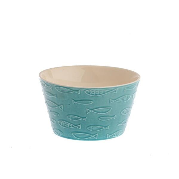 Zelená keramická miska Dakls Fish, 570 ml