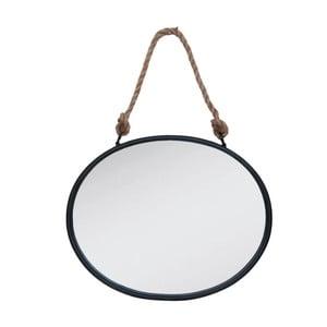 Nástěnné závěsné zrcadlo Clayre & Eef Rope Round, 50 x 40 cm