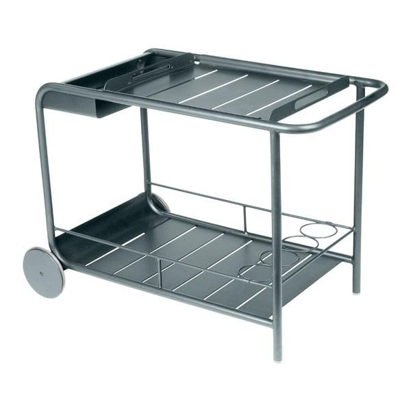 Tmavě šedý servírovací stolek Fermob Luxembourg