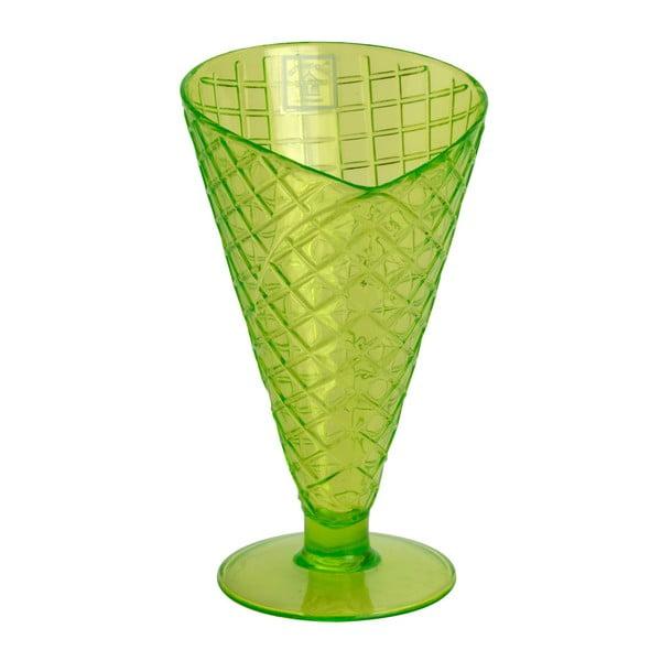 Sundae Cone zöld műanyag fagylaltkehely - Navigate