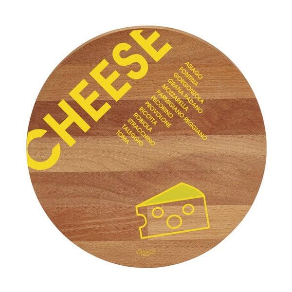 Cheese bükkfa tálalódeszka/vágódeszka, ø30cm - Bisetti